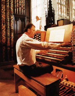 Roger Judd (organist) photographed in St. George's Chapel, Windsor Castle.